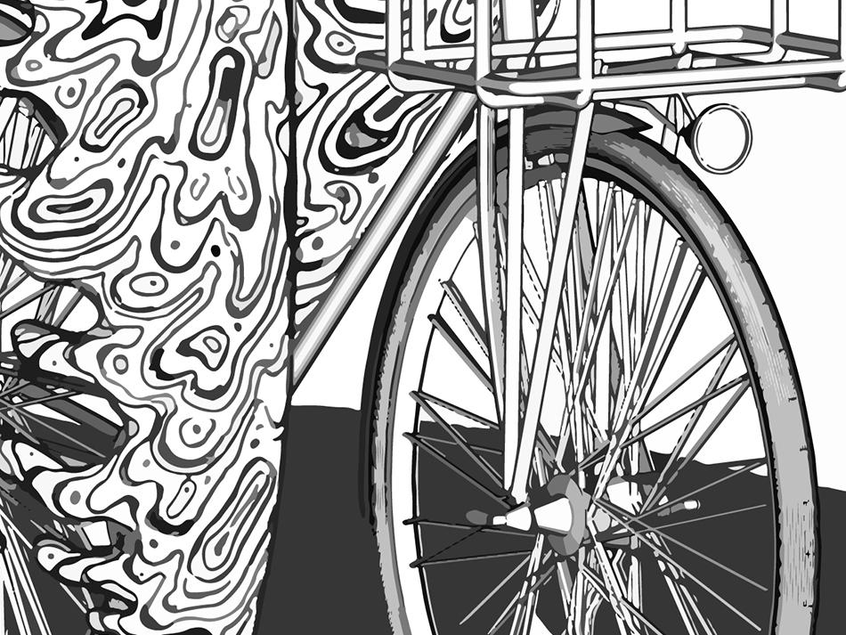 Bike Ride Hot Outsidesm detail